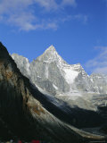 Kya Jo Ri Mountain from Machermo, Machermo, Himalayas, Nepal, Asia Photographic Print by Alison Wright