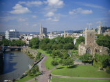 City Centre from Castle Green, Bristol, Avon, England, UK, Europe Photographic Print by Rob Cousins