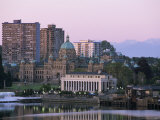 Downtown at Sunrise, Victoria, British Columbia (B.C.), Canada, North America Photographic Print by Alison Wright