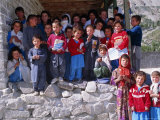 Group of Children Outside School, Gulmit, Upper Hunza Valley, Pakistan, Asia Photographic Print by Alison Wright