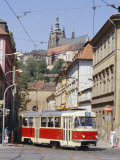 Tram in the Lesser Quarter, Prague, Czech Republic, Europe Photographic Print by Michael Short