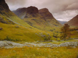 Glen Coe (Glencoe), Highlands Region, Scotland, UK, Europe Fotografisk tryk af John Miller