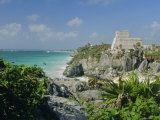 Mayan Archaeological Site, Tulum, Yucatan, Mexico, Central America Photographic Print by John Miller