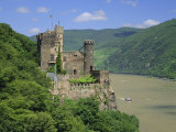 Rheinstein Castle Overlooking the River Rhine, Rhineland, Germany, Europe Fotografisk trykk av Roy Rainford