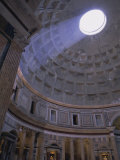 Interior, the Pantheon, Rome, Lazio, Italy, Europe Photographic Print by John Miller