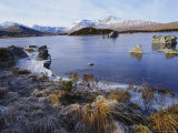 Lochan Na H-Achlaise, Rannoch Moor, Strathclyde, Highlands Region, Scotland, UK, Europe Photographic Print by Kathy Collins