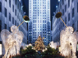 Angels at the Rockerfeller Centre, Decorated for Christmas, New York City, USA Photographic Print by Nigel Francis
