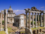Temple of Saturn and Santi Lucia E Martina, Forum, Rome, Lazio, Italy, Europe Photographic Print by John Miller