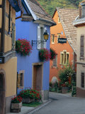 Traditional Architecture of Neidermorschwir, Alsace, France Photographic Print by John Miller