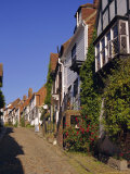 Houses on a Cobbled Street, Rye, Sussex, England, UK, Europe Photographic Print by John Miller