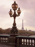 The Eiffel Tower Seen from the Pont Alexandre III at Dusk, Paris, France Photographic Print by Nigel Francis