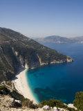Myrtos Beach, the Best Beach for Sand Near Assos, Kefalonia (Cephalonia), Greece, Europe Photographic Print by Robert Harding