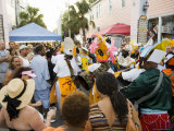 Goombay Festival in Bahama Village, Petronia Street, Key West, Florida, USA Photographic Print by Robert Harding