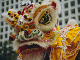 Costume Head, Lion Dance, Hong Kong, China Photographic Print by Fraser Hall