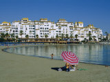 Beach at Puerto Banus Near Marbella, Costa Del Sol, Andalucia, Spain Photographic Print by Fraser Hall