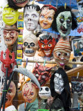 Masks for Sale on Market Day, Zaachila, Oaxaca, Mexico, North America Photographic Print by Robert Harding