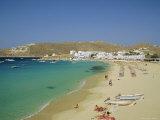 Plati Yialos Beach, Mykonos, Cyclades Islands, Greece, Europe Reproduction photographique par Fraser Hall