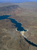 The Hoover Dam and Lake Mead from the Air, Nevada, USA. Photographic Print by Fraser Hall