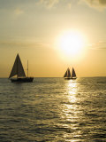 Sailboats at Sunset, Key West, Florida, United States of America, North America Photographic Print by Robert Harding