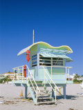 South Beach Lifeguard Station, Art Deco, Miami Beach, Florida, USA Photographic Print by Fraser Hall