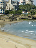 The Beach at Biarritz, Cote Basque, Basque Country, Pyrenees-Atlantiques, Aquitaine, France Photographic Print by Robert Harding