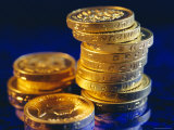 UK Pound Coins Photographic Print by Fraser Hall