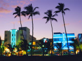 Ocean Drive Sunset, South Beach, Miami Beach, Florida, USA Photographic Print by Fraser Hall