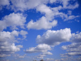 Blue Sky and Puffy White Clouds Photographic Print by Fraser Hall