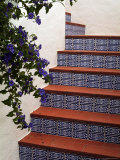 Tiled Staircase, Algarve, Portugal Photographic Print by Fraser Hall