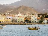Harbour of Mindelo, Sao Vicente, Cape Verde Islands, Atlantic Ocean, Africa Photographic Print by Robert Harding