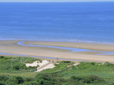 Omaha Beach (D-Day WWII), Colleville-Sur-Mer, Calvados, Normandy, France Photographic Print by Guy Thouvenin