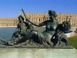 La Marne River Statue, Parterre d'Eau, Chateau De Versailles, Versailles, Les Yvelines, France Photographic Print by Guy Thouvenin