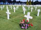 American Cemetery (WWII), Omaha Beach, Colleville-Sur-Mer, Calvados, Normandy, France Photographic Print by Guy Thouvenin