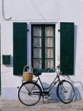 Bicycle Leaning Against a Wall, Ile De Re, France, Europe Photographic Print by Guy Thouvenin