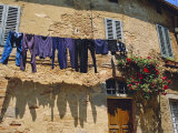 Volterra, Tuscany, Italy. Washing Hanging on a Line Photographic Print by Fraser Hall