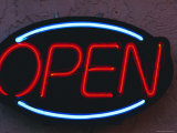 Open Sign Photographic Print by Fraser Hall