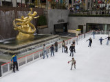 Ice Rink at Rockefeller Center, Mid Town Manhattan, New York City, New York, USA Photographic Print by Robert Harding