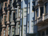 19th Century Terrace Facades, San Francisco, California, USA Photographic Print by Fraser Hall