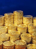 UK Money, Pound Coins Photographic Print by Fraser Hall