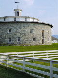Round Stone Barn, Hancock Shaker Village, Massachusetts, USA Photographic Print by Fraser Hall