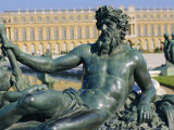 Sculpture Le Rhone Et La Saone, Chateau De Versailles, Versailles, Les Yvelines, France, Europe Photographic Print by Guy Thouvenin