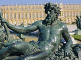 Sculpture Le Rhone Et La Saone, Chateau De Versailles, Versailles, Les Yvelines, France, Europe Photographic Print by Guy Thouvenin
