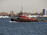Tug on Hudson River, Manhattan, New York City, New York, United States of America, North America Photographic Print by Robert Harding