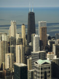 View of Chicago from the Sears Tower Sky Deck, Chicago, Illinois, USA Photographic Print by Robert Harding
