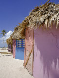 Beach Huts, Dominican Republic, Caribbean, West Indies Photographic Print by Guy Thouvenin