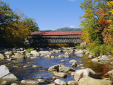 Albany Covered Bridge, Swift River, Kangamagus Highway, New Hampshire, USA Photographic Print by Fraser Hall