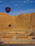 Ballon Over Deir El Bahari, Temple of Hatshepsut, West Bank, Thebes, Egypt, North Africa Photographic Print by John Ross