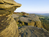 Gritstone Rock Formations, Froggatt Edge, Peak District National Park, Derbyshire, England Photographic Print by Neale Clarke