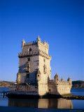 Torre De Belem (Tower of Belem), Built 1515-1521 on Tagus River, Lisbon, Portugal Photographic Print by Sylvain Grandadam