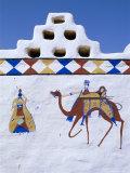 Decorated Walls of Village House, Jaisalmer, Rajasthan, India Photographic Print by Bruno Morandi